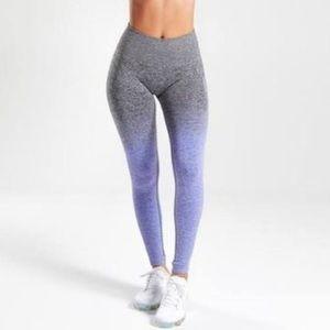 Gymshark Ombré Gray/Purple Leggings Small